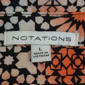 Notations button down blouse